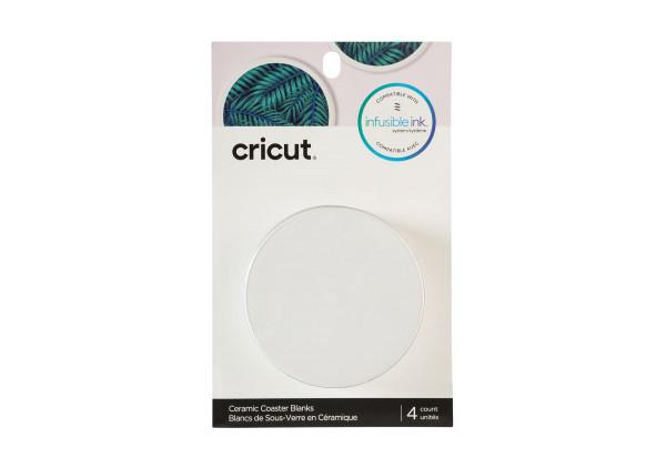 Jalino.ch - Cricut Keramik Untersetzer Rohlinge rund (4 Stück)