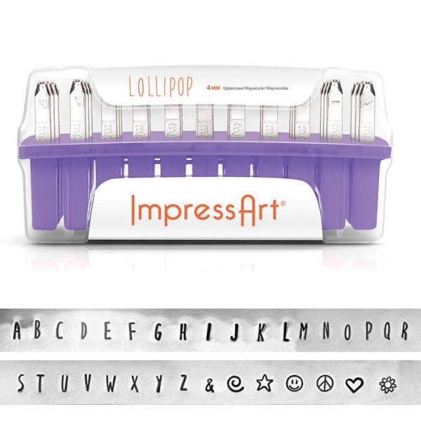 Jalino.ch - ImpressArt Schlagstempel Lollipop Grossbuchstaben
