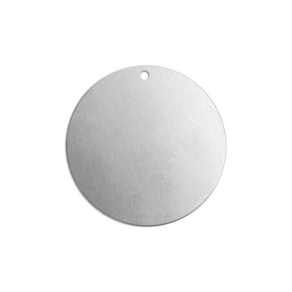 Jalino.ch - ImpressArt Stempel Rohling Scheibe mit Öse, Aluminium Durchmesser 25 mm 11 Stk.