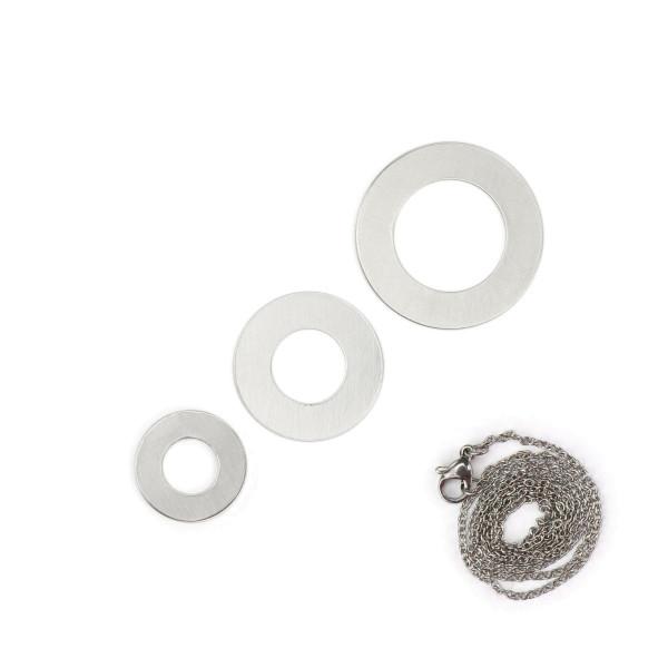 Jalino.ch - ImpressArt Stempelset Rohling 3 Scheiben für Halskette