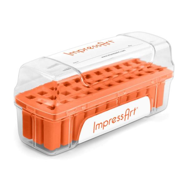 Jalino.ch - ImpressArt Schlagstempel Aufbewahrungsbehälter orange