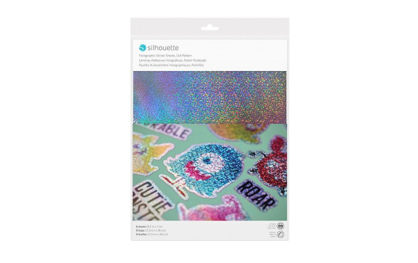 Jalino.ch - Silhouette Stickerpapier Holograpic dots silber