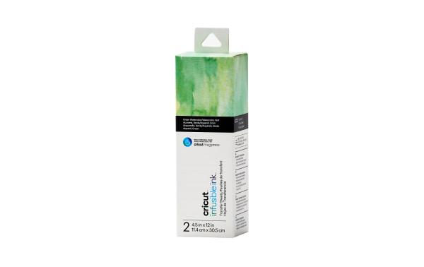 Jalino.ch - Infusible Ink Transferbogen, Cricut Joy, aquarell grün, 2 Stück