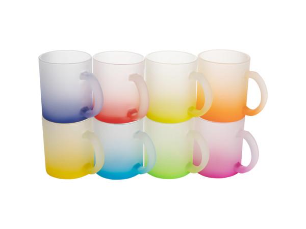 Jalino.ch - Farbverlauf Glastasse satiniert Sublimation