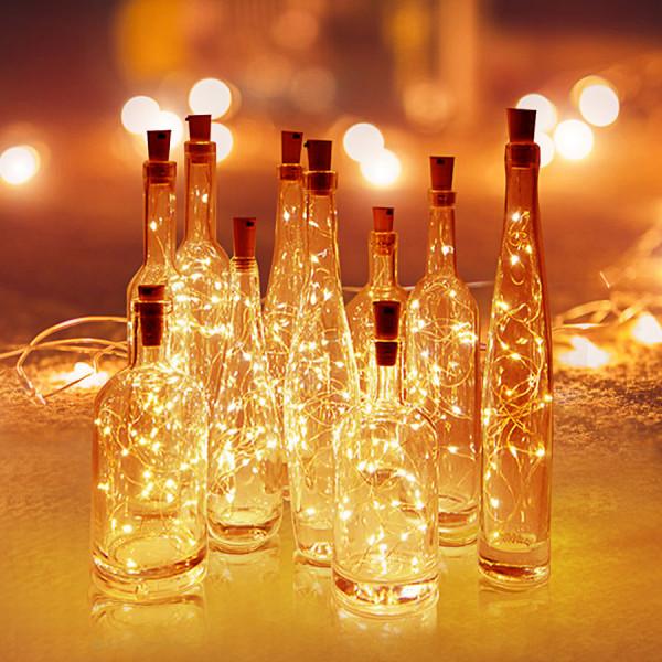 Jalino.ch - LED Flaschenlicht Lichterkette 2 Stk. warmweiss