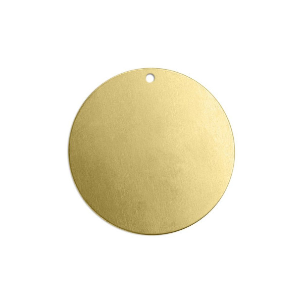 Jalino.ch - ImpressArt Stempel Rohling Scheibe mit Öse, Messing, Durchmesser 25 mm 4 Stk.