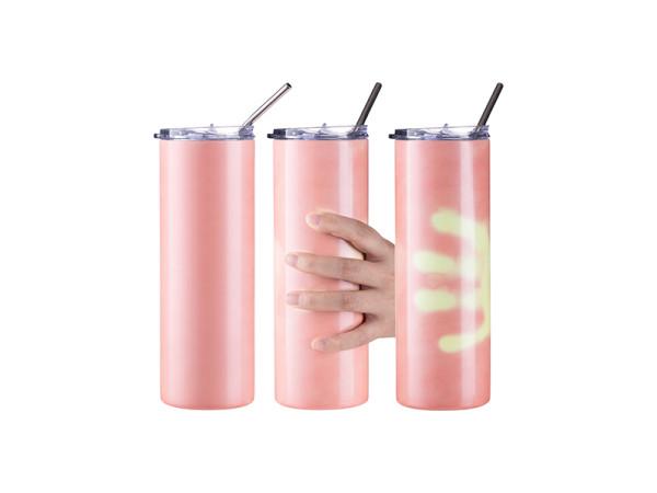 Jalino.ch - Getränkedose Farbwechsel Wärme 20OZ/600ml mit Trinkhalm für Sublimation