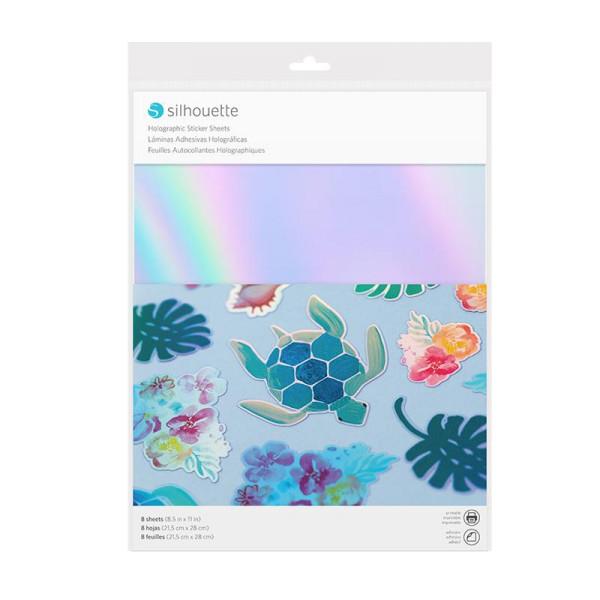 Jalino.ch - Silhouette Stickerpapier holographic mehrfarbig