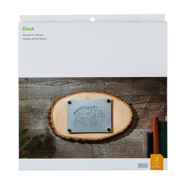 "Jalino.ch - Cricut Aluminium Sheets, 8"" x 8"", 2 Stück (20,3 x 20,3cm )"