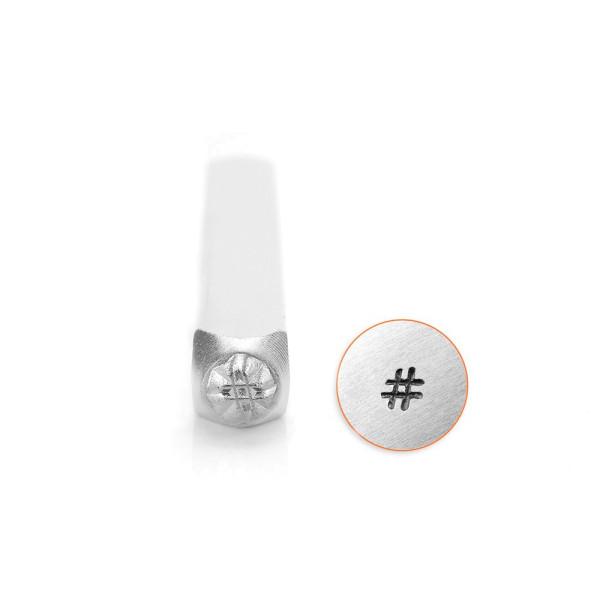 Jalino.ch - ImpressArt Prägestempel Motiv Hashtag 3mm