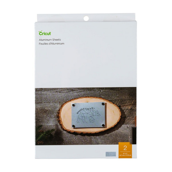 "Jalino.ch - Cricut Aluminium Sheets, 5"" x 7"", 2 Stück (12,7 x 17,75cm)"