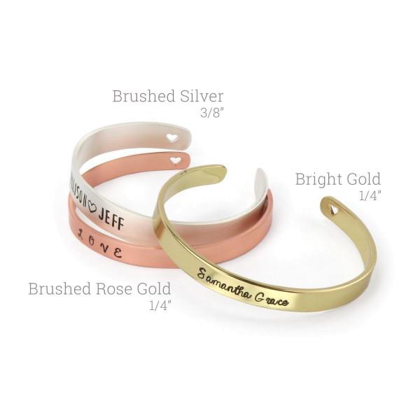 """Jalino.ch - ImpressArt Armband mit Herz silber 3/8"""" x 6"""" (0,95cm x 15,2cm) 2 Stk."""